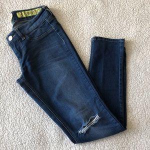 Indigo Rein Distressed Knee Skinny Jeans
